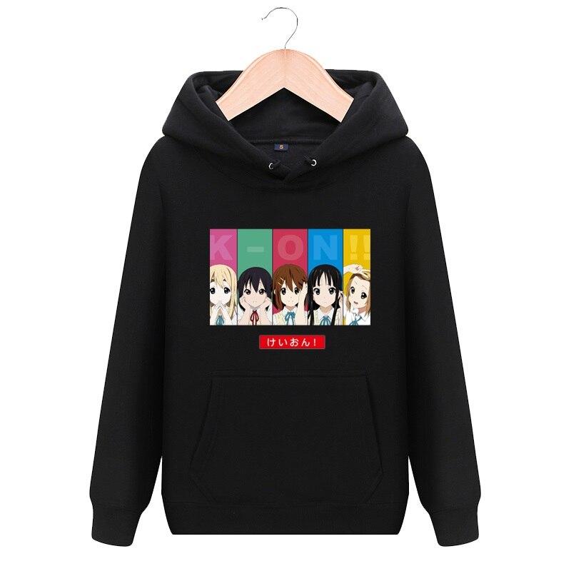 Sudadera con capucha de alta calidad Unisex de Anime K-ON Akiyama Mio, Sudadera con capucha, Hirasawa Yui Tainaka Ritsu, chaqueta de abrigo Casual