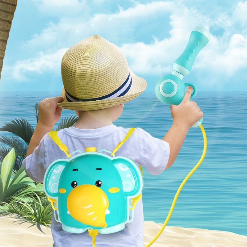 Mochila de elefante portátil de verano para niños, pistola de agua a chorro, juguetes de agua para niños, pistola infantil para piscina, pistola de agua, juguete de playa para el baño