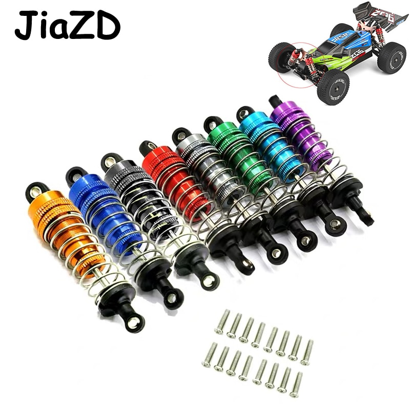 Wltoys 144001 4Pcs Metal Shock Absorber Damper Replacement Accessory Fit for WLtoys 144001 1/14 4WD RC Drift Racing Car Parts Y7