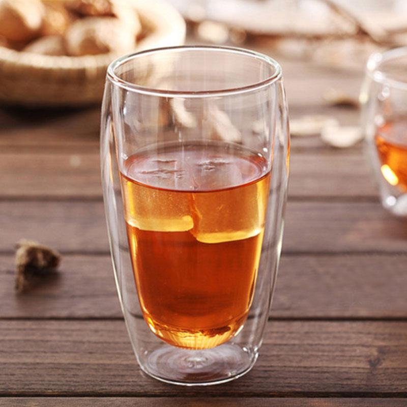 80-650ML Ultra Clear Double Wall Shot Glass Clear Handmade Heat Resistant Tea Drink Cups Healthy Drink Mug Coffee Insulated Mugs