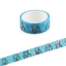 Ransitute R844 Hatsune Miku Washi Tapes DIY  Painting Paper Masking Tape Decorative Adhesive Tapes Scrapbooking Stickers