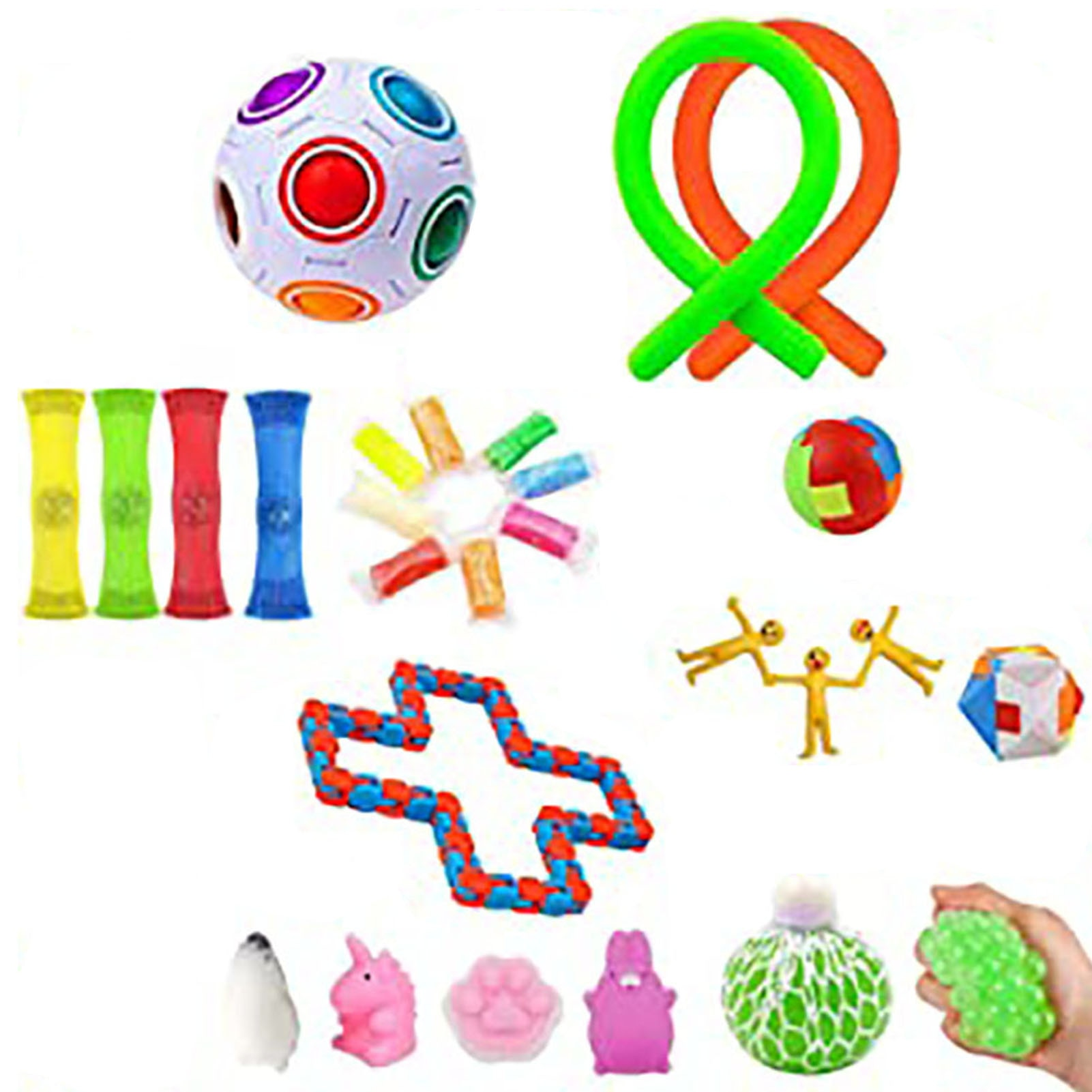 37 IN 1 Fidget Toys Pack Antistress Decompression Pop Toy Premium Simple Dimple Hand Stress Relief It Toy For Kids Adults Gift enlarge