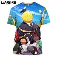 liasoso 2021 3d print t shirt anime assassination classroom men women fashion cool casual t shirts streetwear tops korosensei