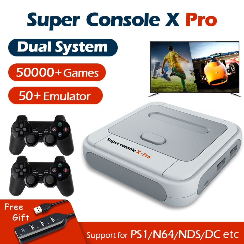 Retro Video Game Console Super Console X Pro Wifi 4K HD For PSP /PS1/N64/DC Mini TV Game Players With 50000+ Games 50+ Emulator