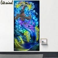 diy diamond painting blue mermaid 5d cross stitch diamond mosaic pattern full round square diamond embroidery amazing artworks