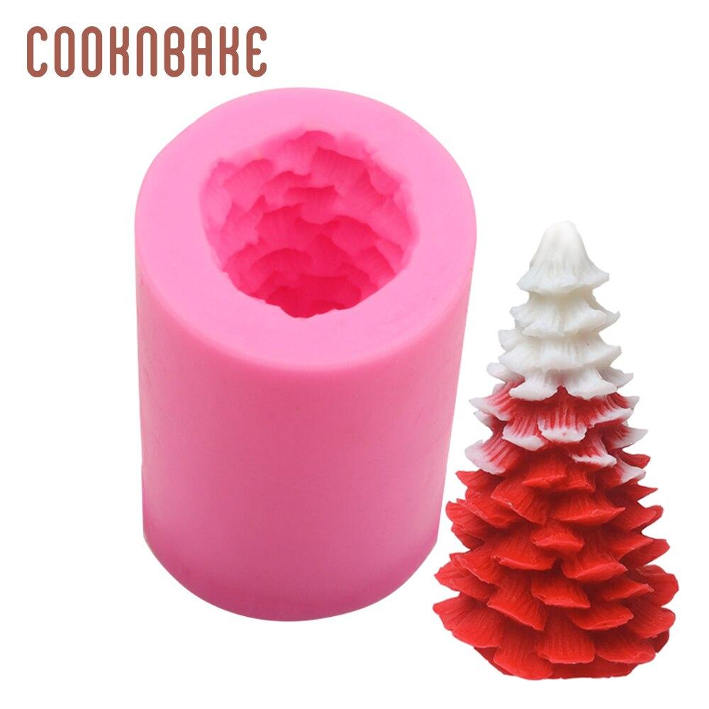 COOKNBAKE силиконовая форма для помадки для мыла свечи 3D Рождественская елка Смола гипсовая форма торт декорированная форма DIY мыло ручной рабо...