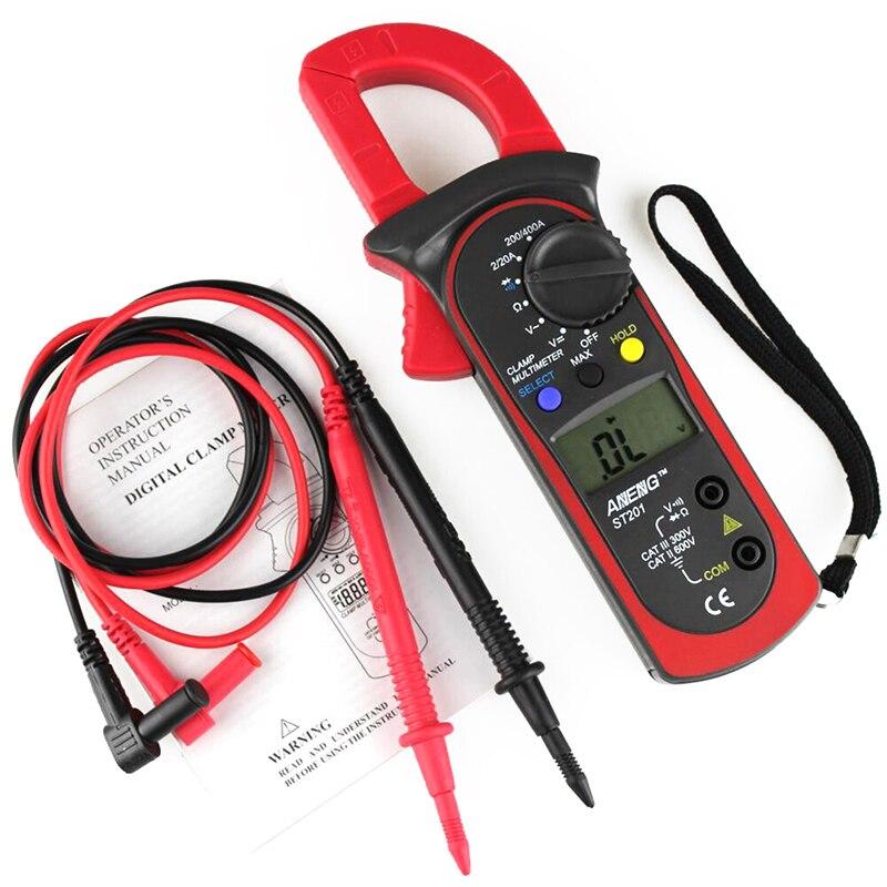 Pantalla Digital LCD abrazadera multímetro amplificador voltímetro AC/DC Resistor Tester herramientas de prueba