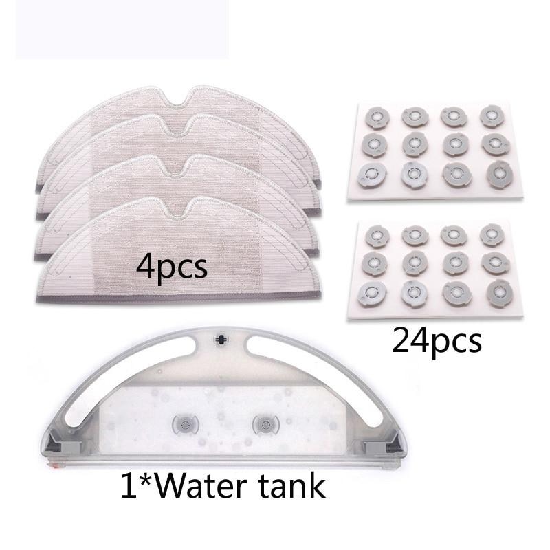 robot vacuum cleaner Water tank set accessories for xiaomi mijia mi vacuum 2 roborock S50 S51 T60 T61 mop pro cloth spare parts