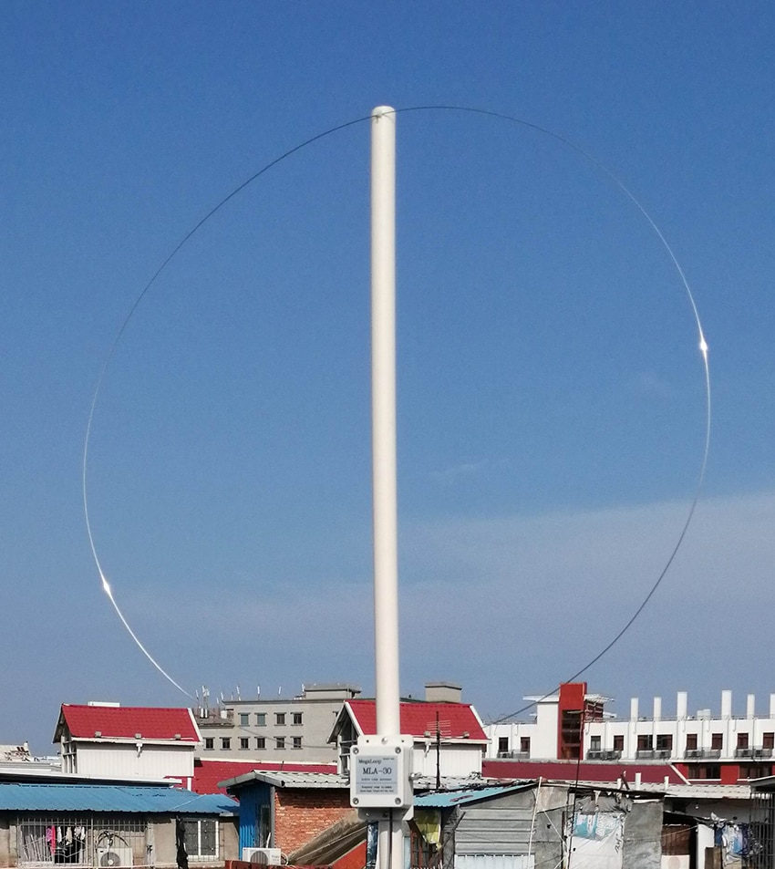 MLA-30 + (زائد) 0.5-30MHz حلقة نشط تلقي هوائي منخفض الضوضاء متوسطة قصيرة موجة SDR حلقة هوائي هوائي قصير موجة الراديو