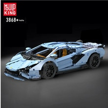 Mould King 13056 Technic RC The Veneno Lamborghinis Aventador Roadster Car MOC building blocks Bricks toys for kids gifts