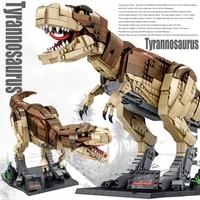 jurassic dinosaur figures bricks tyrannosaurus diy dinosaurios building blocks toy dinosuar christmas gifts for adult children