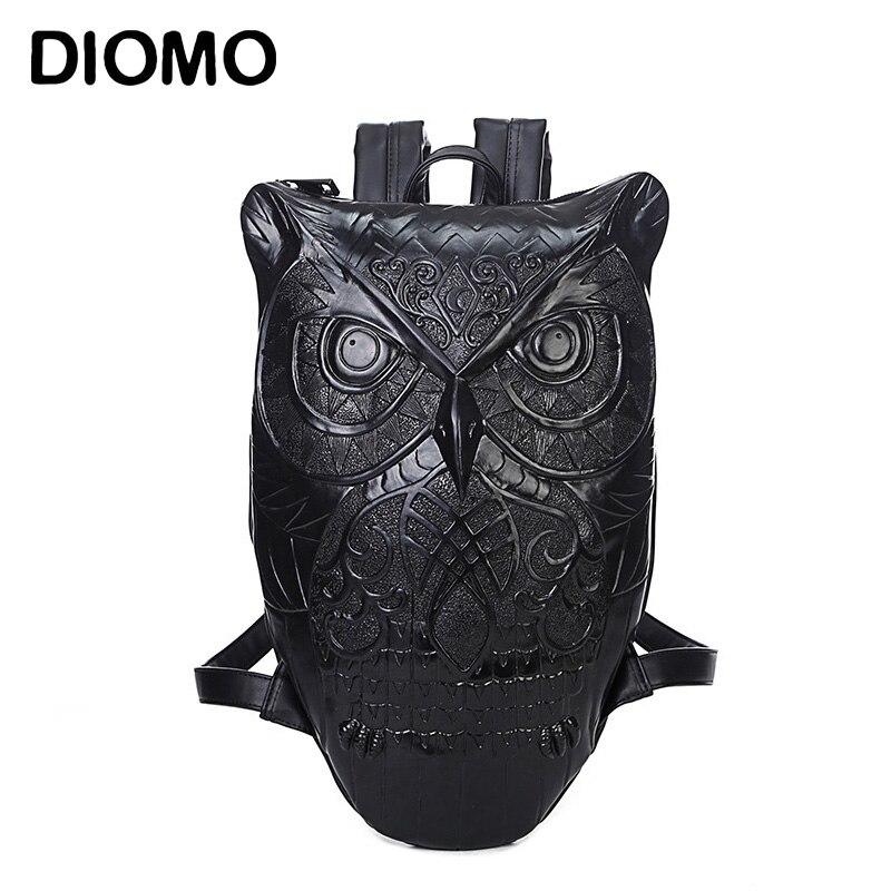 DIOMO-حقيبة ظهر نسائية من جلد البولي يوريثان ، حقيبة ظهر نسائية أنيقة ، رائعة ، على شكل بومة ، عرض خاص