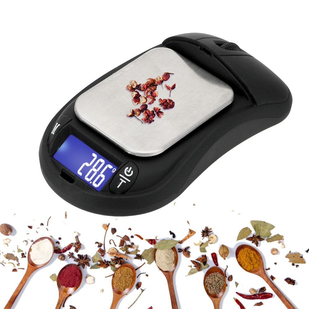 Balanza electrónica portátil de 0,01g-200g, balanza de bolsillo, minipantalla LCD de alta precisión, herramienta de ponderación de escala Digital
