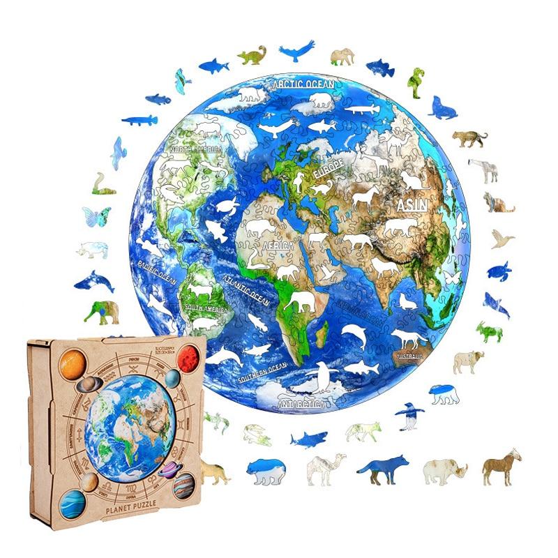Головоломки земли, Необычные головоломки с высокой сложностью, декомпрессионная деревянная головоломка, игра для сбора, интерактивные игр...