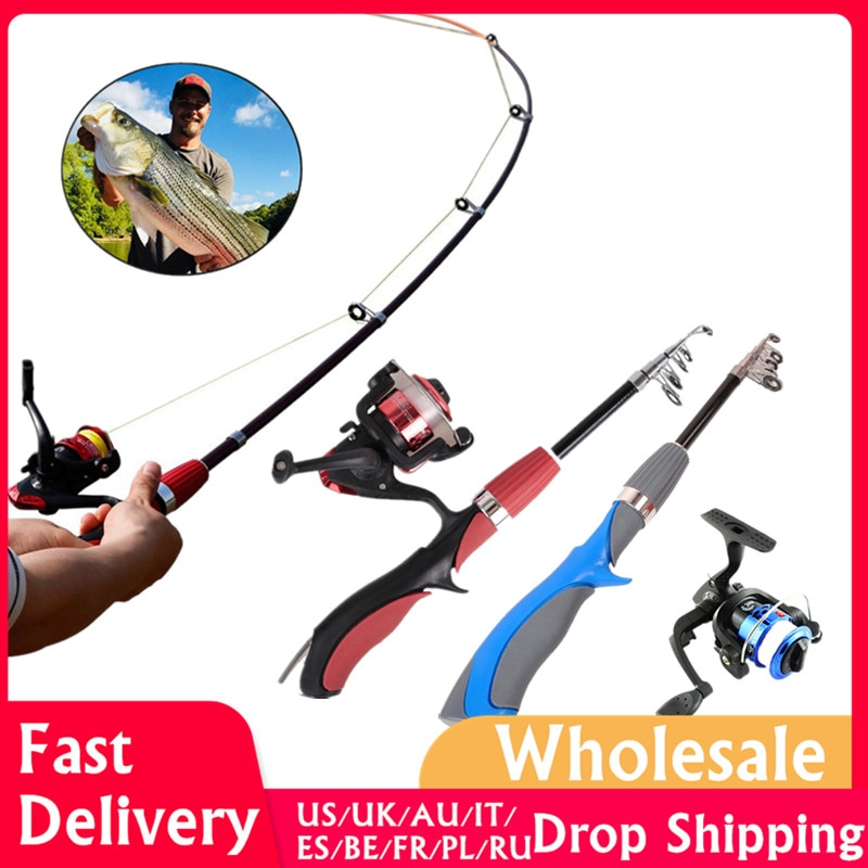 Carbon Fiber Rod Superhard Boat Ice Fly Lure Fishing Rod With High Quality Fishing Reel Fishing Tackle set De Pesca 1.4m Length enlarge