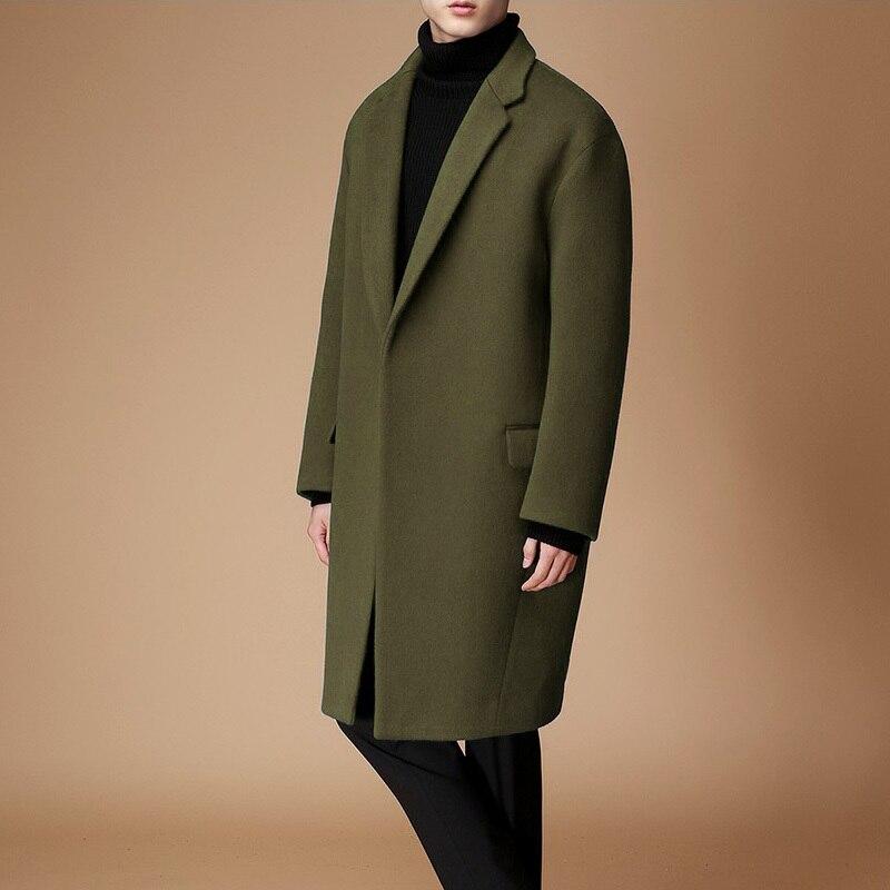 Nuevo Producto de invierno 2020, Abrigo de lana largo para hombre, gabardina...