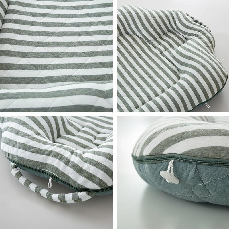 Babyinnner Portable Baby Cribs Folding Infant Travel Bed Soft Cotton Baby Nest for Toddler Baby Cradle Bassinet 27.6*43.3in enlarge