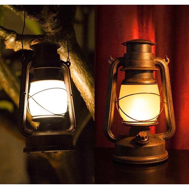 التحكم عن بعد LED مصباح طاولة عتيق RC الأوروبي الرجعية الإبداعية لهب ضوء مقهى الإضاءة في الهواء الطلق ديكور المنزل الكيروسين مصباح