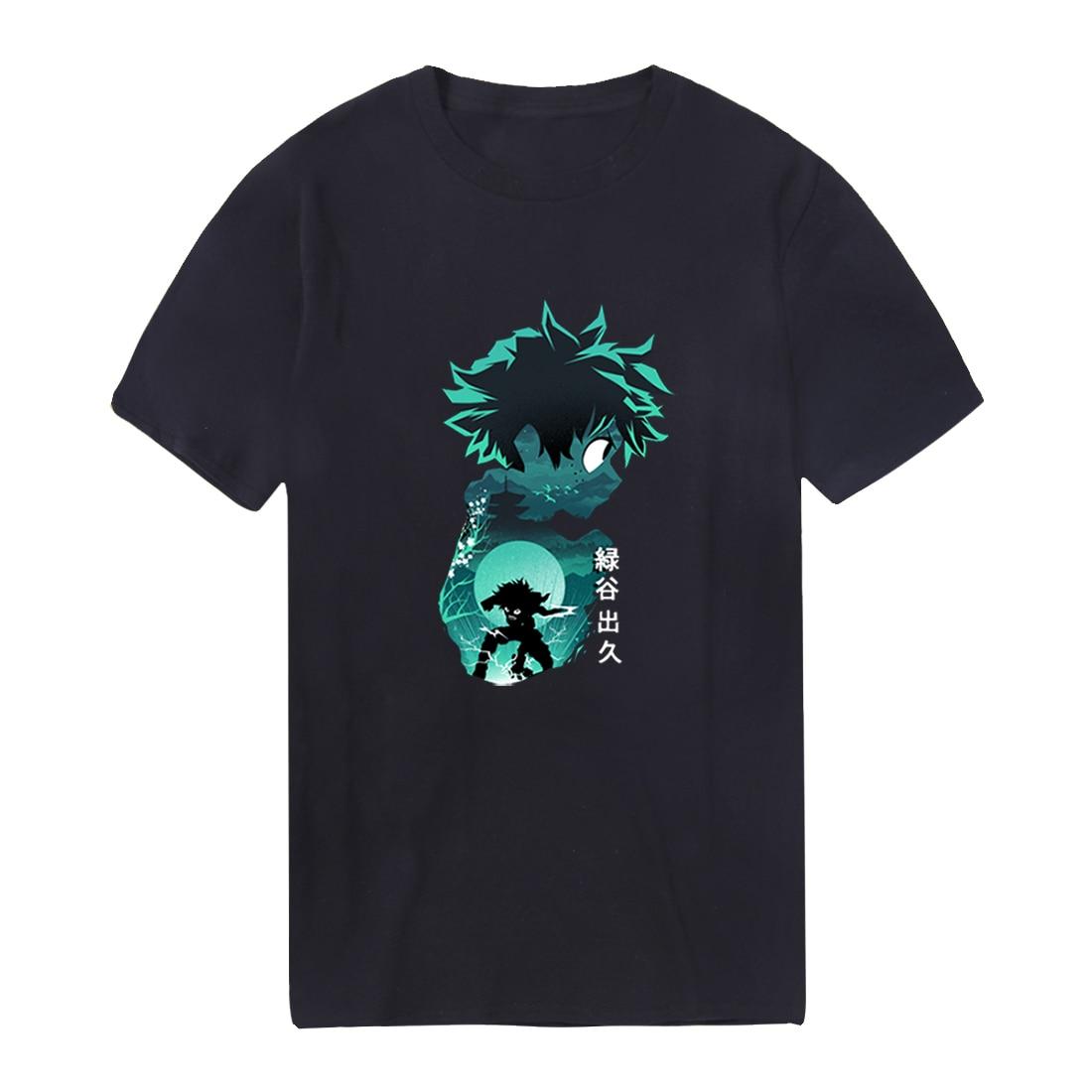 Camisetas para hombre My Hero Academy, camisetas holgadas de algodón de Hip Hop de verano para hombre, camisetas de Cosplay para exteriores, camisetas estilo Punk para hombre