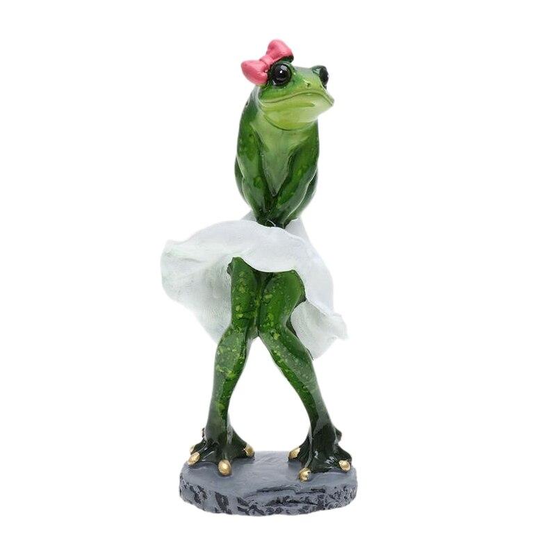 Décoration de la maison grenouilles Figurine Sexy moderne résine maison Sculpture poupées résine modèle cadeaux étranges artisanat ornements danimaux
