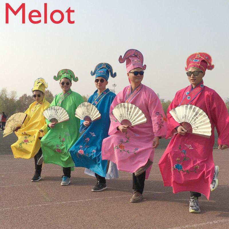 أربع مواهب القديمة زي الملابس جيانغ نان مجموعة كاملة مروحة أفضل رجل النمط الصيني هزة جيانغ رسم