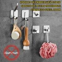 Crochet mural en acier inoxydable SUS304  pour la cuisine  la salle de bain  avec autocollant mural  porte  vetements  porte-chapeau