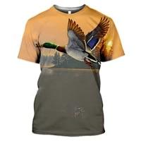 3d print harajuku t shirt summer animal hunting partridge bird fashion casual mens tshirt chukar short sleeve streetwear unise