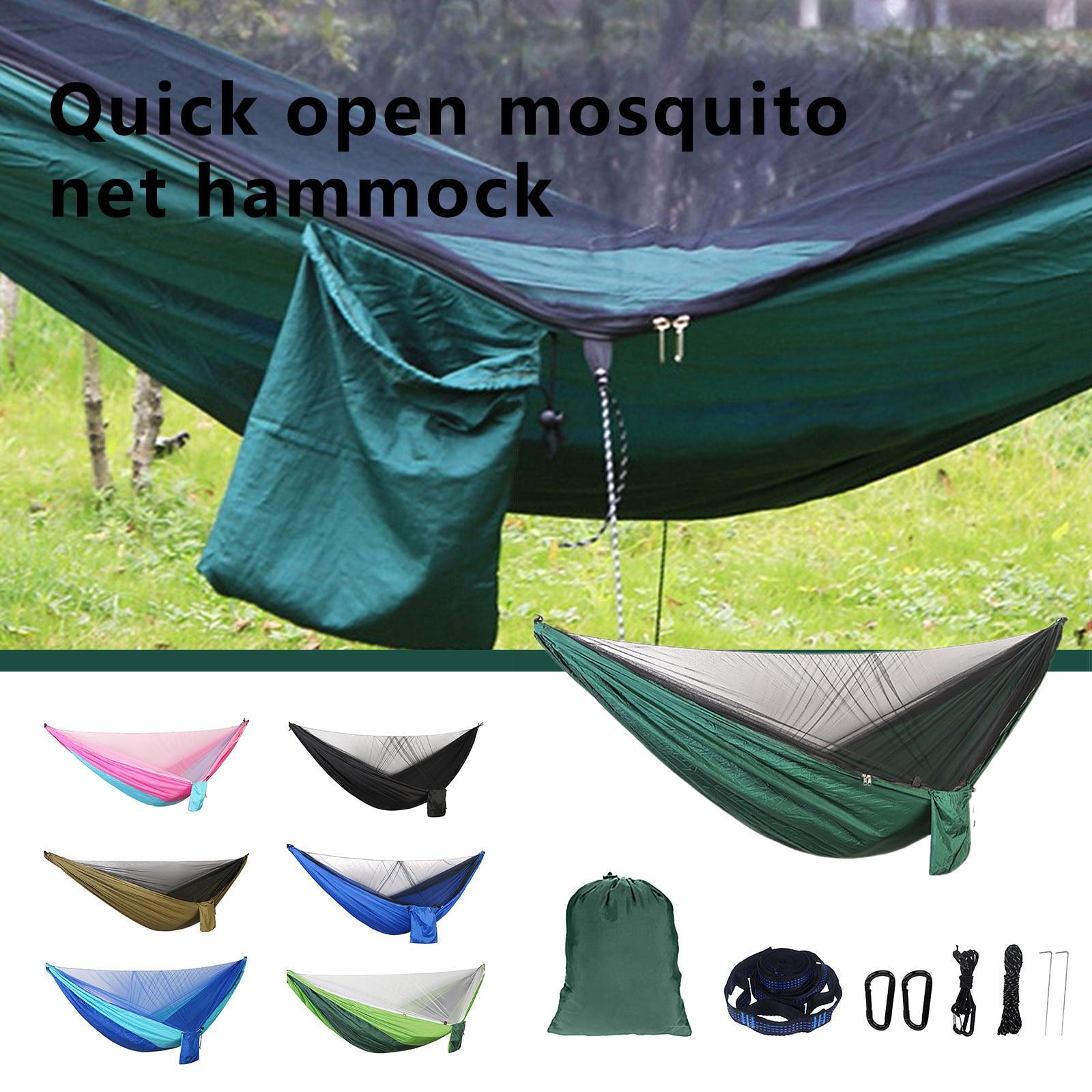 Camping Hammock Ultraligh Portable Outdoor Camping Mosquito Net Nylon Hanging Bed Sleeping Swing гамак туристический