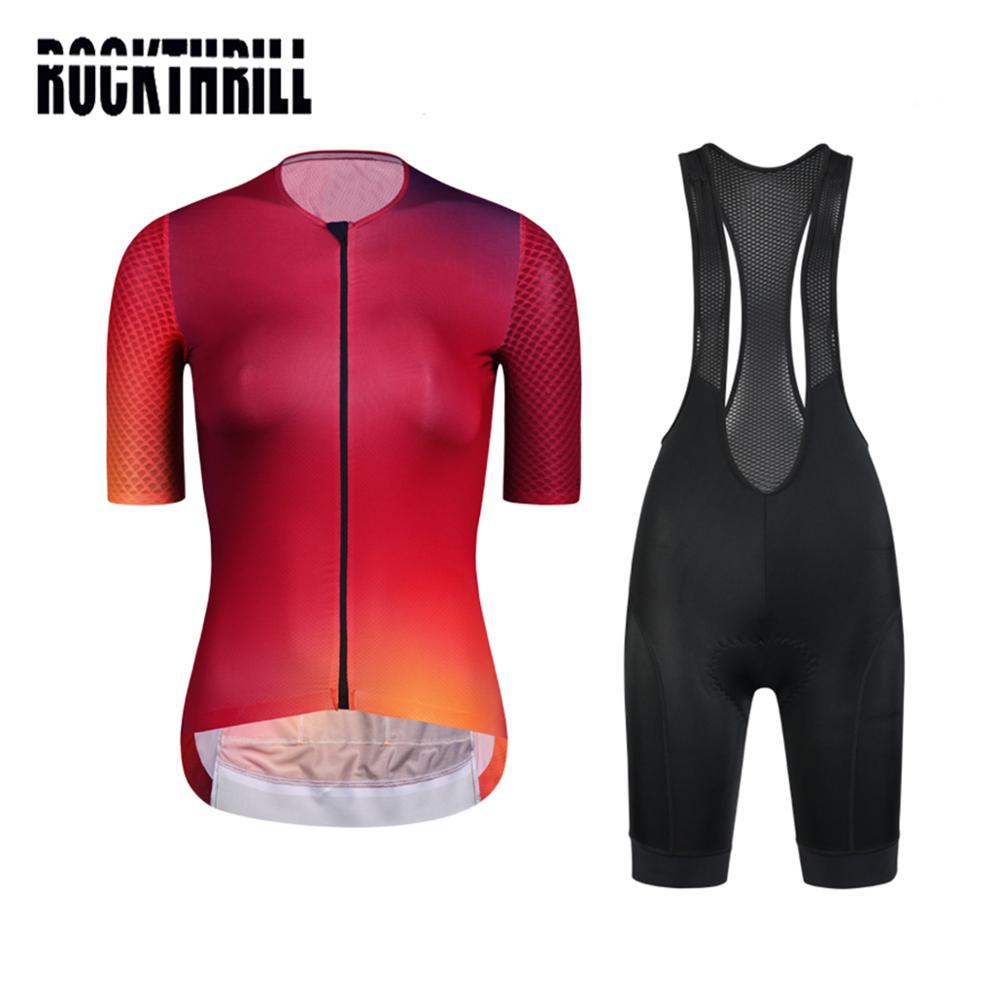 Equipo profesional de las mujeres Aero peto y camiseta de ciclismo conjuntos cortos desgaste de alta densidad Gel Pad MTB ropa Kits de bicicleta ropa carretera traje de verano 2020