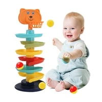 rolling ball pile tower puzzle baby rattle toy rotating track educational newborntoy bildungs spielzeug geschenke