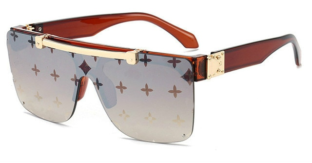 Fashion Luxury Sunglasses Women Brand Designer Unisex Flip Up Square Steampun Men Sun Glasses Male S