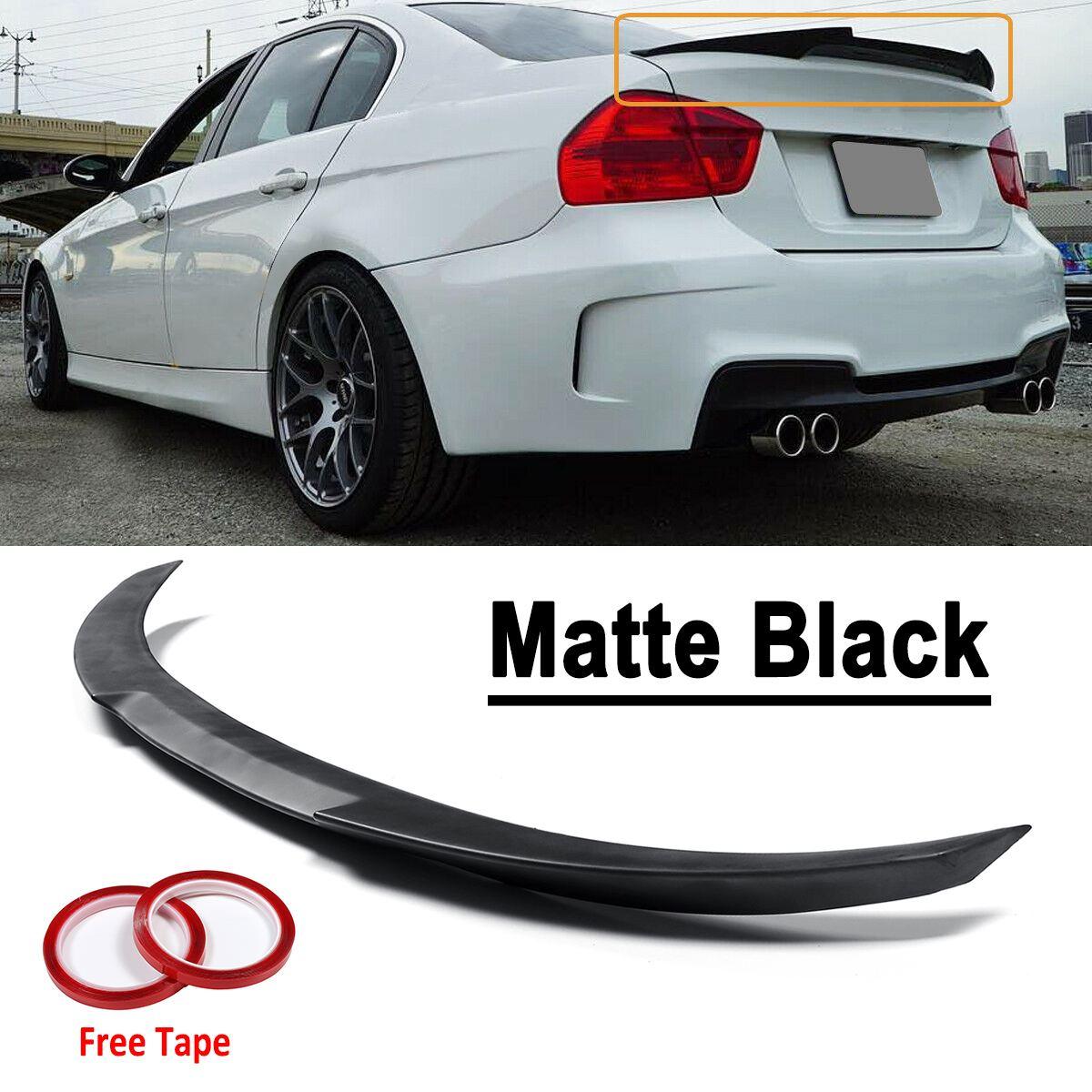 Матовый черный ABS багажник спойлер крыло M4-Style для BMW 2006-2011 E90 3 серии 4 Двери Седан для BMW 2008-12 M3 седан