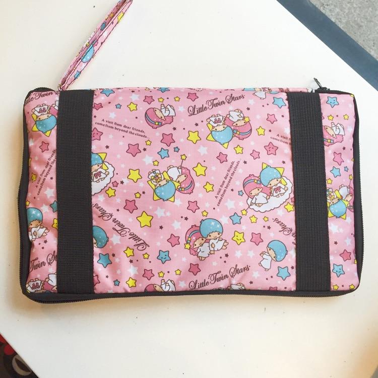 Cute Cartoon Little Twin Stars My Melody Cinnamoroll Women Foldable Trolley Travel Bag Girls Duffle Tote Portable Luggage Bags