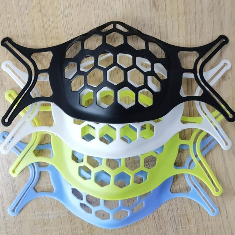 10Pcs Food Grade Silicone Mask Holder 3D Face Mask Inner Support Frame Silicone Mouth Mask Bracket B