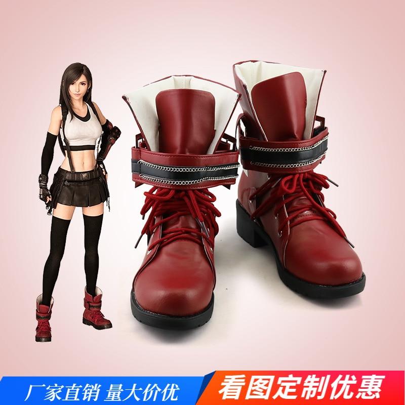 2021 لعبة فاينل فانتاسي السابع طبعة جديدة تيفا لوكهارت تأثيري أحذية هالوين الدعائم التخصيص