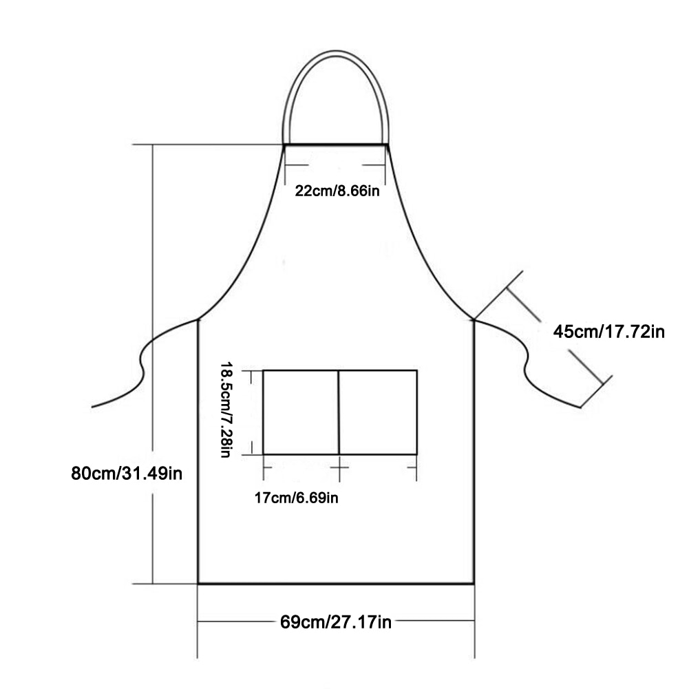 Solid Color Adjustable Apron Waterproof Stain-Resistant Kitchen Apron For Woman Men Chef Baking Cooking BBQ Apron with pocket enlarge