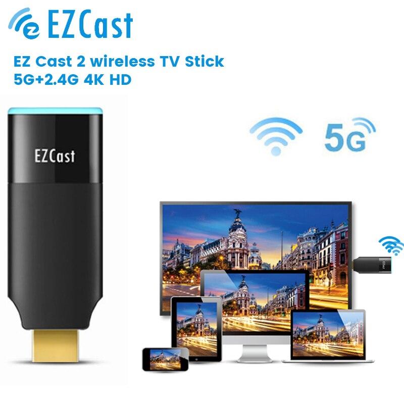 محول واي فاي لاسلكي 5G من Ezcast عصا تلفزيون بشاشة عرض دونغل محول فيديو DLNA للايفون 11 12 هاتف أندرويد للتلفاز