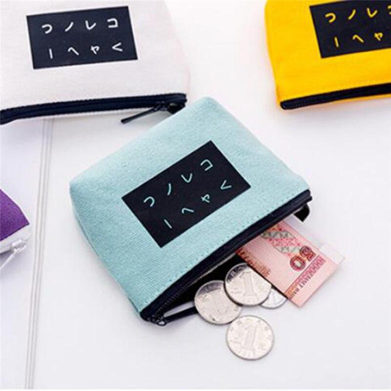 Women Kids Canvas Coin Purse Zipper Bags Pouch Small Wallets Lady Key Credit Card Holder Wallet Case Coin Pocket  Porta Monete