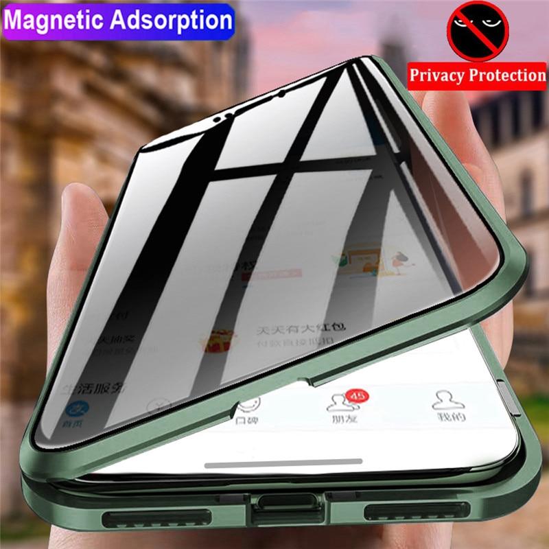 Магнитный чехол 360 стекло для iphone 11 чехол 360 магнитный анти шпион iphone 6 7 8 7 plus 8p 10 XS XR XSX 11 PROMAX защитный чехол