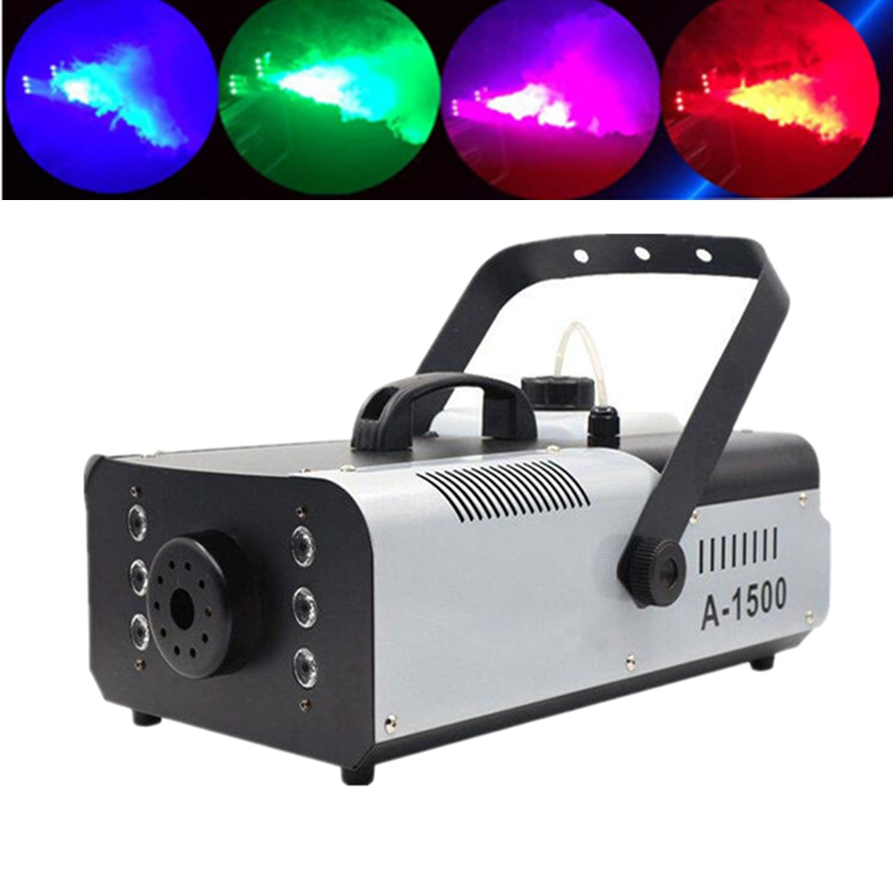1500w maquina de nevoa com 6x9w rgb 3in1 luzes led estagio profissional maquina de
