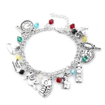 rongji jewelry Fashion Alice In Wonderland charm men and women crystal Bracelets & bangle pendant Brand  jewelry Accessories