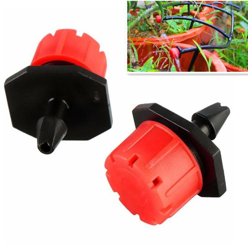 1000 шт./упак. красными регулируемыми капельница излучатель на Barb для мини капельного полива растений цветок поливочный распылитель N109