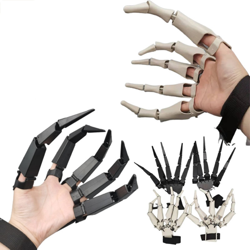 Halloween Decoration Articulated Fingers Flexible Joint Finger Halloween Party Cosplay Costume Props