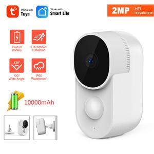 1080P Tuya Smartlife WiFi IP Camera Built-in battery 10000mAh Low Power Outdoor Waterproof AI PIR Motion Derection Security Cam