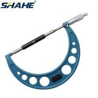 SHAHE 0.01 mm 150-175 mm blue outside micrometer 0.01 mm mechanical gauges micrometer metric measuring tool