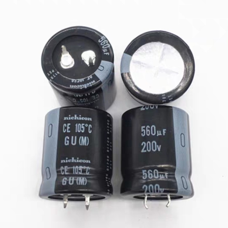 4pcs/lot Original nichicon GU series 105C Filter high frequency low resistance aluminum electrolytic capacitors free shipping