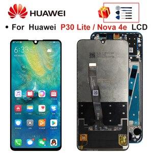Оригинальный ЖК-дисплей 2312*1080 с рамкой для HUAWEI P30 Lite, ЖК-экран для HUAWEI P30 Lite, Nova 4e, MAR-LX1, LX2, AL01