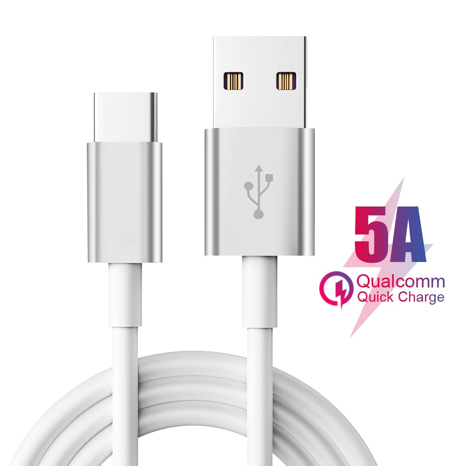 Cable de datos USB C 3,1 5A tipo C, Quad Core de carga rápida para Samsung Xiaomi Redmi Huawei USB-C Supercharge