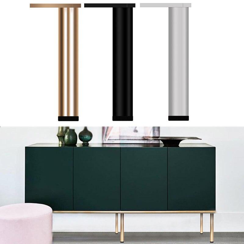 4PCS Adjustable Aluminum Alloy Furniture Foot Bathroom Cabinet Support Leg Bathroom Sofa Foot Metal