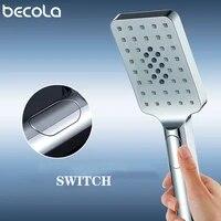 BECOLA     pommeau de douche a trois fonctions  accessoires de salle de bains  pommeau de douche ABS  economie deau  chrome